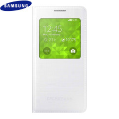 Official Samsung Galaxy Alpha S-View Premium Cover Case - White