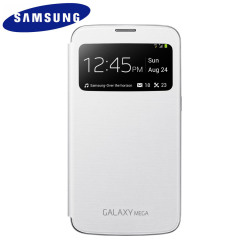 Official Samsung Galaxy Mega 6.3 S-View Premium Cover Case - White