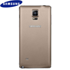 Official Samsung Galaxy Note 4 Back Cover - Bronze Gold