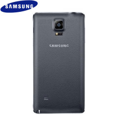 Official Samsung Galaxy Note 4 Back Cover - Charcoal Black