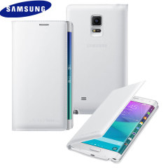 Official Samsung Galaxy Note Edge Flip Wallet Cover - White