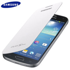 Official Samsung Galaxy S4 Mini Flip Case Cover - White