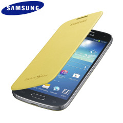 Official Samsung Galaxy S4 Mini Flip Case Cover - Yellow