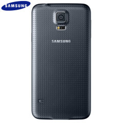 Official Samsung Galaxy S5 Back Cover - Charcoal Black