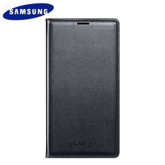 Official Samsung Galaxy S5 Flip Wallet Cover - Blue Black