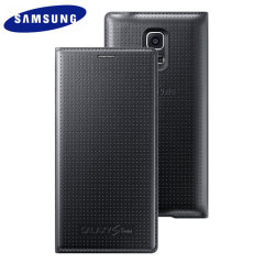 Official Samsung Galaxy S5 Mini Flip Case Cover - Dimpled Black