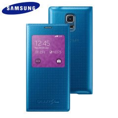 Official Samsung Galaxy S5 Mini S-View Premium Cover - Electric Blue