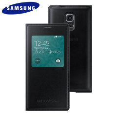 Official Samsung Galaxy S5 Mini S-View Premium Cover - Metallic Black