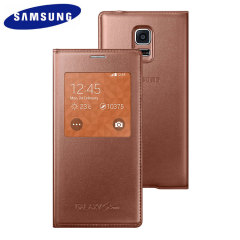 Official Samsung Galaxy S5 Mini S-View Premium Cover - Rose Gold