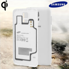 Official Samsung Galaxy S5 Qi Wireless Charging Cover - White