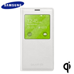 Official Samsung Galaxy S5 S View Wireless Charging Cover - White