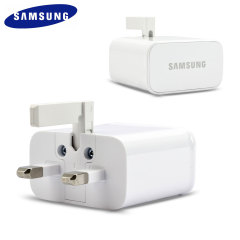 Official Samsung Galaxy S5 UK Mains Charger with USB Cable - White