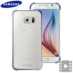 Official Samsung Galaxy S6 Clear Cover Case - Blue / Black