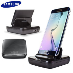 Official Samsung Galaxy S6 Edge Charging Desktop Dock - Black