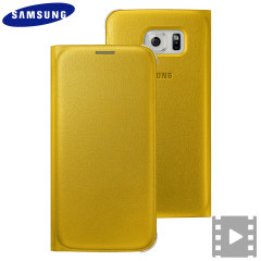 Official Samsung Galaxy S6 Flip Wallet Cover - Yellow