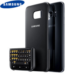 Official Samsung Galaxy S7 Edge QWERTZ Keyboard Cover - Black
