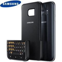 Official Samsung Galaxy S7 QWERTZ Keyboard Cover - Black
