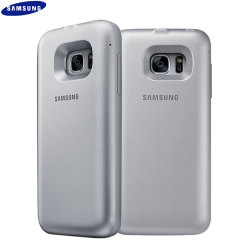 Official Samsung Galaxy S7 Wireless Charging Battery Case - Silver