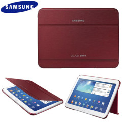Official Samsung Galaxy Tab 3 10.1 Book Cover - Garnet Red