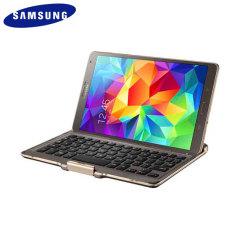 Official Samsung Galaxy Tab S 8.4 Keyboard Case - Titanium Bronze