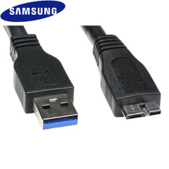 Official Samsung Micro USB 3.0 Data Cable - Black
