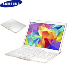 Official Samsung Tab S 10.5 QWERTZ Bluetooth Keyboard Case - White