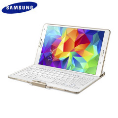 Official Samsung Tab S 8.4 QWERTZ Bluetooth Keyboard Case - White
