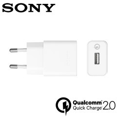 Official Sony UCH10 Qualcomm 2.0 Quick EU Charger & Cable - White