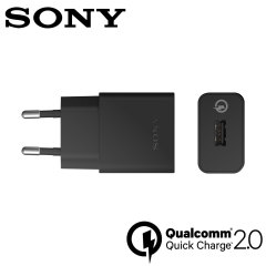Official Sony UCH10 Qualcomm 2.0 Quick EU Charger & Cable - Black