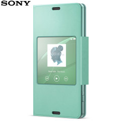 Official Sony Xperia Z3 Compact Style Cover Stand Case - Aqua Green
