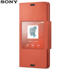 Official Sony Xperia Z3 Compact Style Cover Stand Case - Sunset Orange
