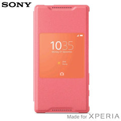 Official Sony Xperia Z5 Compact Style Cover Smart Window Case - Coral