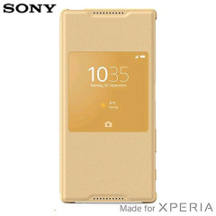 Official Sony Xperia Z5 Style Cover Smart Window Case - Gold