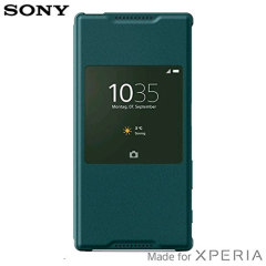 Official Sony Xperia Z5 Style Cover Smart Window Case - Green