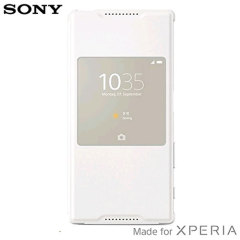 Official Sony Xperia Z5 Style Cover Smart Window Case - White