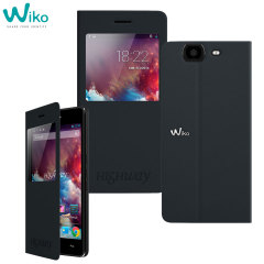 Official Wiko Highway Folio Stand Case - Black