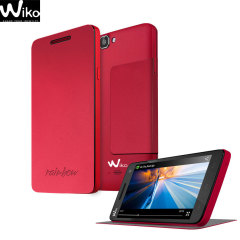 Official Wiko Rainbow Folio Case with Stand - Coral