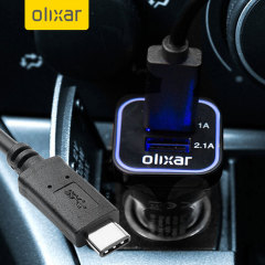 Olixar 3.1A High Power USB-C Car Charger