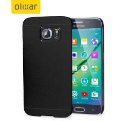 Olixar Aluminium Samsung Galaxy S6 Edge Shell Case - Black