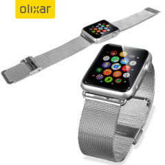Olixar Apple Watch 2 / 1 Elegant Stainless Steel Strap - 42mm - Silver