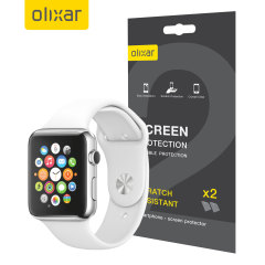 Olixar Apple Watch 42mm Screen Protector 2-in-1 Pack