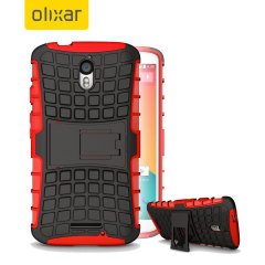 Olixar Armourdillo Hybrid Moto X Force Protective Case - Red