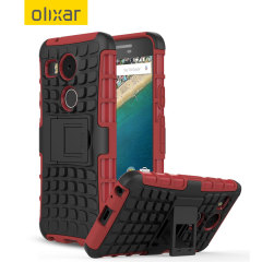 Olixar ArmourDillo Hybrid Nexus 5X Case - Red