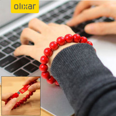 Olixar Bead Bracelet Micro USB Cable - Red