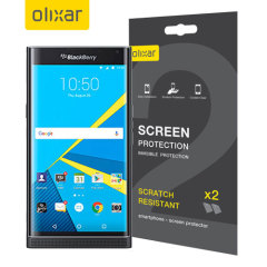Olixar BlackBerry Priv Screen Protector 2-in-1 Pack