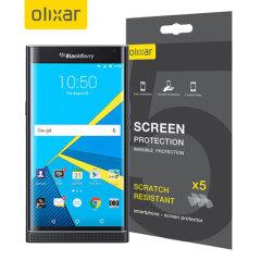 Olixar BlackBerry Priv Screen Protector 5-in-1 Pack