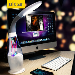 Olixar Bluetooth Water Dancing Speaker LED Table Light - White