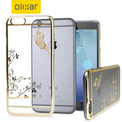 Olixar Butterfly iPhone 6S / 6 Shell Case - Gold / Clear