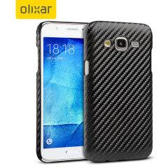 Olixar Carbon Fibre Print Samsung Galaxy J5 2015 Case - Black