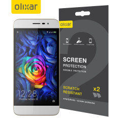 Olixar Coolpad Torino S Screen Protector 2-in-1 Pack
